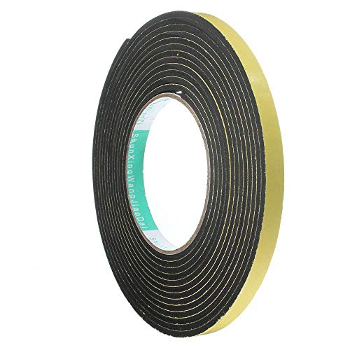 5M 3 / 2x10mm deurafdichtstrip enkelzijdige zelfklevende waterdichte strip schuimrubber stripband voor raamafdichting deurafdichting, 5M x 10 x 3 mm