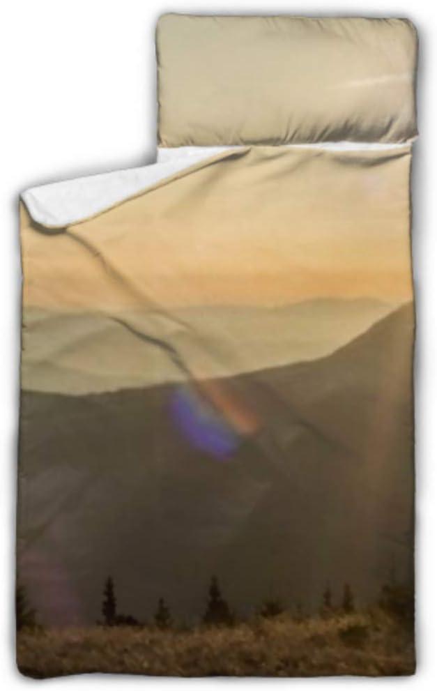 HJSHG Kids Sleeping Bag At the price Sun Shining Nap Mat Ridges Max 83% OFF Over Mountain