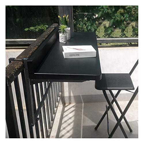XiYou Escritorio de Pared Plegable, Mesa Colgante de barandilla, balcón al Aire...