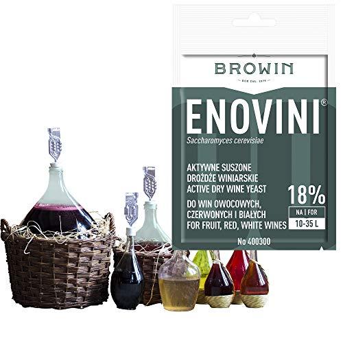 Browin Universele drooggist   Wijngist Enovini   Poeder   Gisttemperatuur 15-35 °C   ideaal voor witte, rozen- en rode wijnen   zoete en droge wijn voor 10-35 l   18%   1 stuk