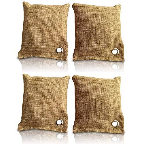 aoory 4 Stück Bambus Lufterfrischer Mit Aktivkohle Geruchskiller Luftreiniger