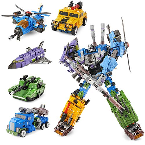 Deformation King Kong Toys 5 IN 1Collection Robot Car Toys Anime Devastator Model Classic Grimlock Toy for Boys and Girls Gift