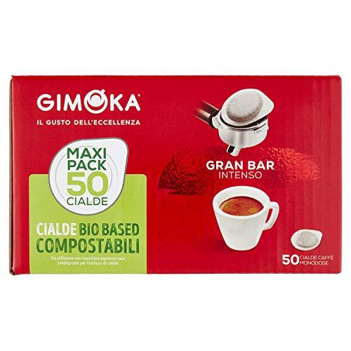 Gimoka - Cialde Ese 44, Compatibili con Tutte le Macchine a Sistema Easy Serving Espresso, in Carta Compostabile, Gusto Intenso, Caffè, 50 Cialde