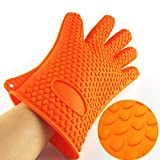 Toriox Safe Hand Heat Resistant Cut Resistant Non-Slip Silicone Microwave Oven Convection Cooking Baking Heat Proof Anti-Scald Safety Security Hand Gloves for Home Kitchen (Pack Of 2)