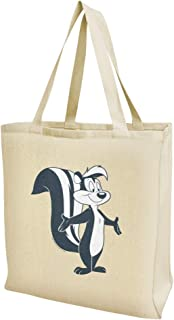 Looney Tunes Pepe Le Pew Grocery Travel Reusable Tote Bag - Large