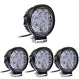 MCTECH 4 X 27W Runde LED Offroad Flutlicht...