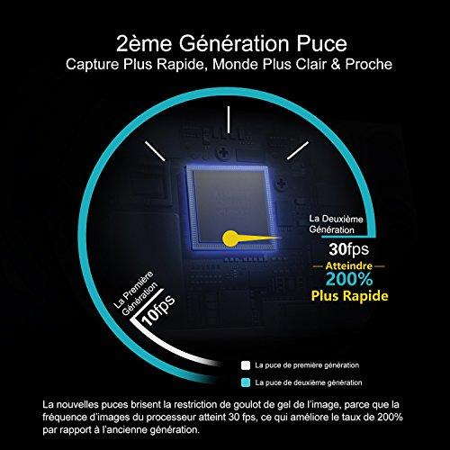 DEPSTECH Endoscope iphone WiFi Endoscope IOS HD Caméra d'inspection Étanche 2,0 Mégapixels avec 6 LED Compatible avec Android, IOS Smartphone, iPhone, Samsung, Tablette - 10M