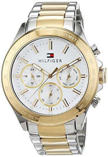 Tommy Hilfiger 1791226 Orologio da uomo al quarzo , con visualizzazione multi-quadrante e cinturino in acciaio inox, Oro/Argento