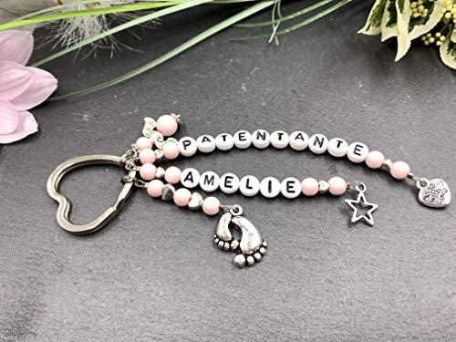 Schlüsselanhänger PATENTANTE, Taufpate Geschenk, Patenschaft Geschenk, Geschenk Patenonkel, Schlüsselanhänger Baby