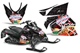 AMR Racing Snowmobile Graphics kit Sticker Decal Compatible with Arctic Cat ProCross Sno Pro 2012+ - Vegas Baller Black