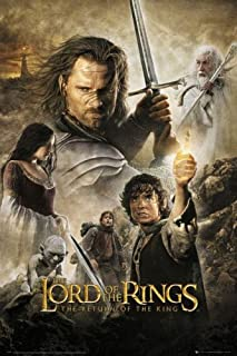 The Lord of The Rings - The Return of The King - Movie Poster (Regular) (Size: 24 inches x 36 inches) (Poster & Poster Strip Set)