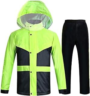 Qivor Waterproof clothing Raincoat Rain Pants Suit Waterproof Split Raincoat For Men And Women (blue/Black/Fluorescent Gre...