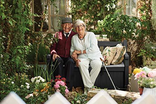 Koll Living Garden Gartenbank Eden - anthrazit - Kissenbox mit Stauraum - 265 Liter Raumvolumen - ca. 220 kg Deckelbelastung - 6