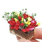 Tensay DIY Künstliche 1/12 Puppenhaus Blume Miniatur Exquisite Grüne Pflanze Ornament Dekor, beste...