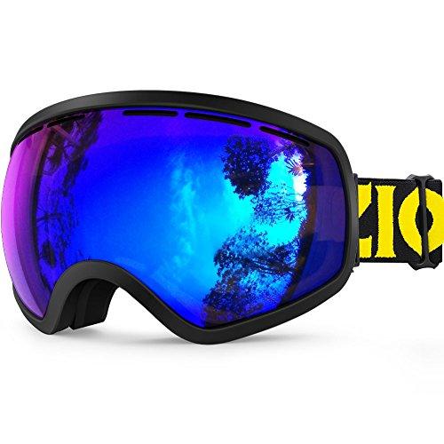 ZIONOR X10 Skibrille Ski Snowboard Schnee Brille Goggles OTG für Herren Damen Jugend Anti-Nebel UV-Schutz Helm Kompatibel