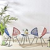 Cherry Tree Furniture Konya 2 Seater String Rattan Bistro Table and Chairs Set Garden Furniture Set (Multi)