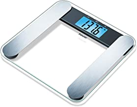 Beurer Glass Body Analysis Scale, Measures Weight, Fat, Water and Muscle Percentages, BF220