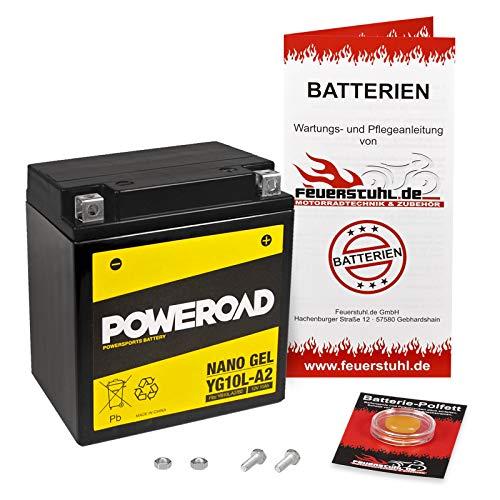 Gel-Batterie für Suzuki GN 250 (NJ42A) wartungsfrei, einbaufertig, startklar, inkl. 7,50€ Pfand