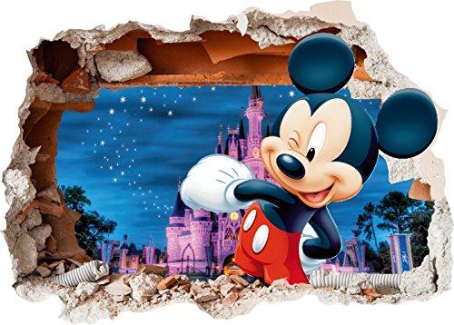 Adhesivo de vinilo con diseño de Mickey Mouse en la pared para...