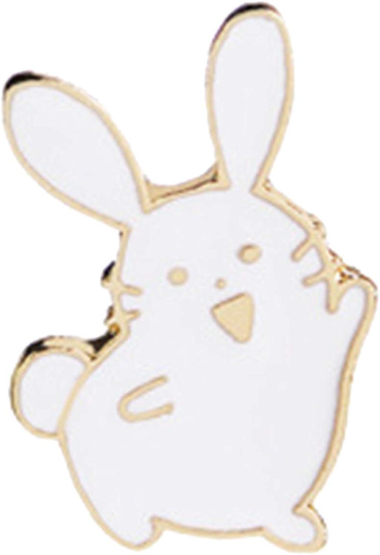 Handmade Brooches Buttons & Pins,Cute Women Cartoon Rabbit Brooch Pin Enamel Denim Backpack Badge Jewelry Gift