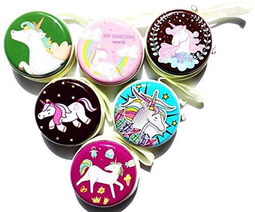 Birthday Popper Glossy High Quality Tin Metal Unicorn Pouch, Multicolour, 12 Piece