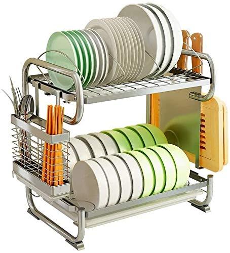tgbnh Estante de Cocina Estante de la Cocina, de Acero Inoxidable Estantes escurreplatos for los estantes vajilla for Cocina Escurridor  Estantes for Platos de arroz Cuencos, 42cm, 57cm (Size : 42cm)