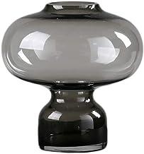 Flower Bottle Glass Vase Cylinder Hydroponics Geometric Vases Glass Vases for Wedding Table (Color : Gray)