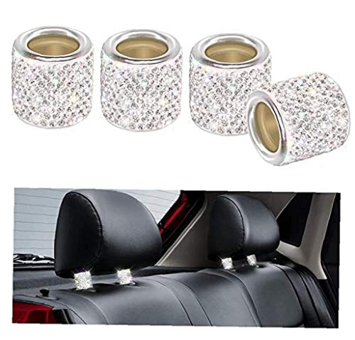 Canjerusof ?4Pcs? Auto-Kopfstütze Dekoration Ring Auto-Sitz Dekoration Produkte ?Weiß ?OppBag?