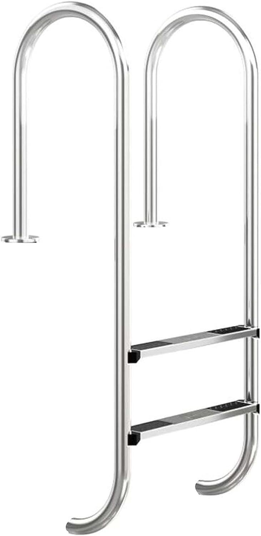 HHXD Antideslizante Escalera Pulida Piscinas,Escalera para Piscina Acero Inoxidable,Fácil de Instalar/B / W50.2cm*H133cm