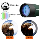 Svbony SV28 Spotting Scope IP65 Waterproof Bak4 Prism 45 Degree Angled Eyepiece with Tripod and Cell Phone Adapter for Birdwatching Outdoor Activities