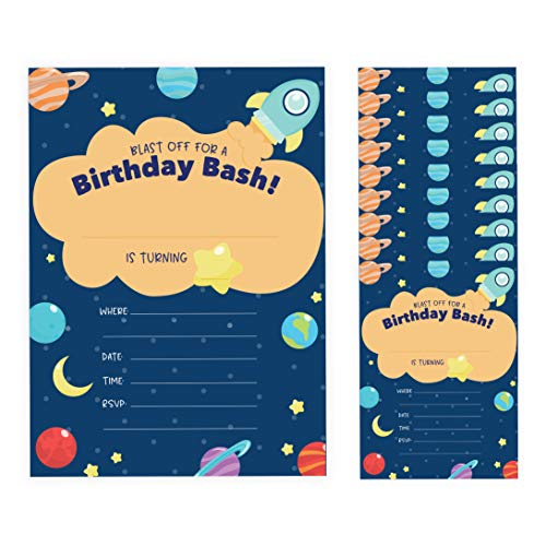 space birthday invitations - 2