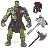Gladiator Hulk, Superhero Action Figure Model Toy, Movable Joints Including Helmet, Hammer, Axe, Height 20Cm