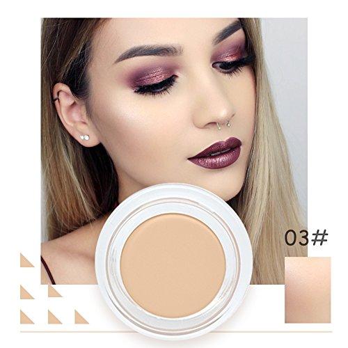 Maquillage Concealer Full Coverage Crème Beige Naturel Foncé Couleur Poudre Longue Durée