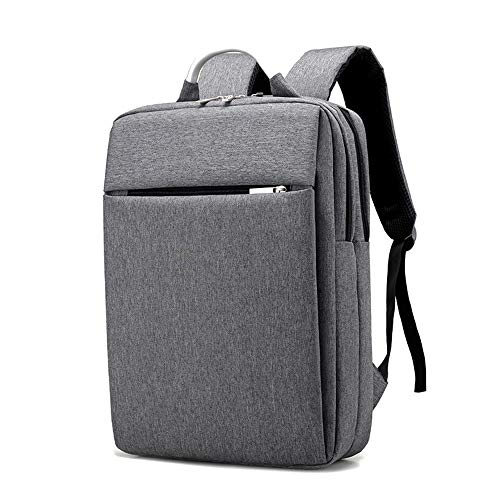 BOZEVON Quadratischer Laptop Rucksack - High-Density Verschleißfestes Leichtes Oxford-Tuch Business Travel Backpack,Grau,One Size