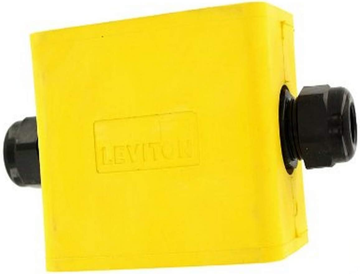 Special sale item Leviton 3059F-1Y Portable Outlet Bargain sale Single-Gang Dept Standard Box