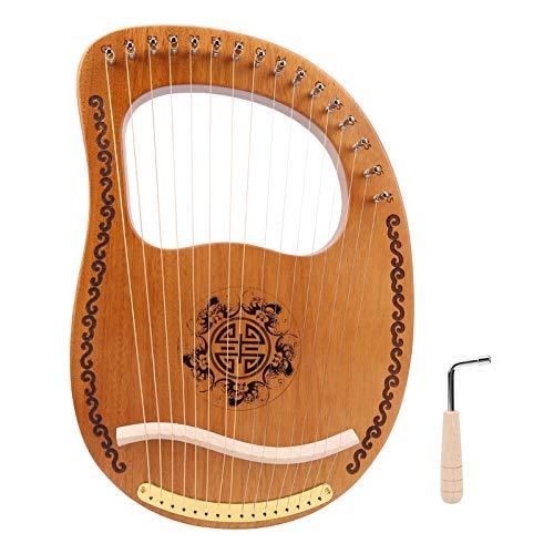 VGEBY Arpa de 16 Cuerdas, pequeño Instrumento Musical portátil de Cuerda de Madera de Arpa de Caoba