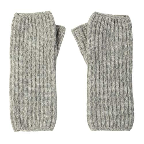 Johnstons of Elgin Ribbed Wrist Warmer Womens Gloves One Size Silver