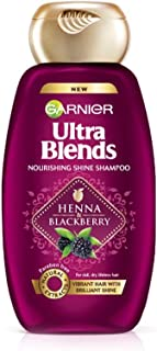 Garnier Ultra Blends Shampoo, Henna & Blackberry, 340ml