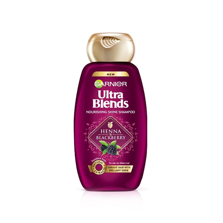 タクシーオプションスタンドGarnier Ultra Blends Shampoo, Henna & Blackberry, 175ml