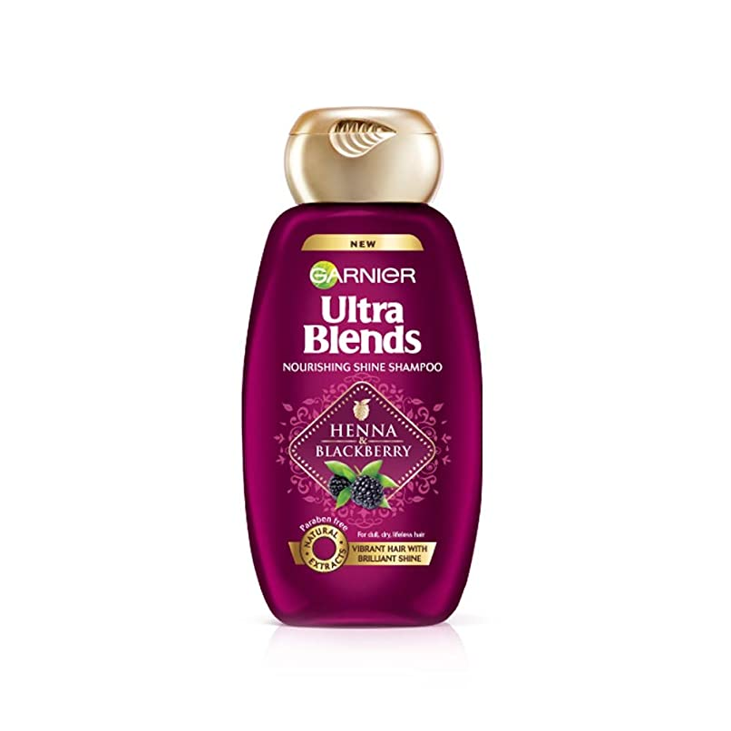 シンプルな承認する櫛Garnier Ultra Blends Shampoo, Henna & Blackberry, 340ml