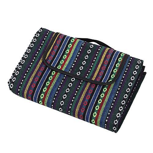 Datee Tapis de Pique-Nique en Plein air Tapis de Tente Style Ethnique Portable extérieur étanche à l