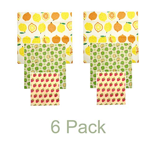 top 10 beeswax wraps Reusable beeswax package, 6 packs, eco-friendly food package, no waste, no plastic, …