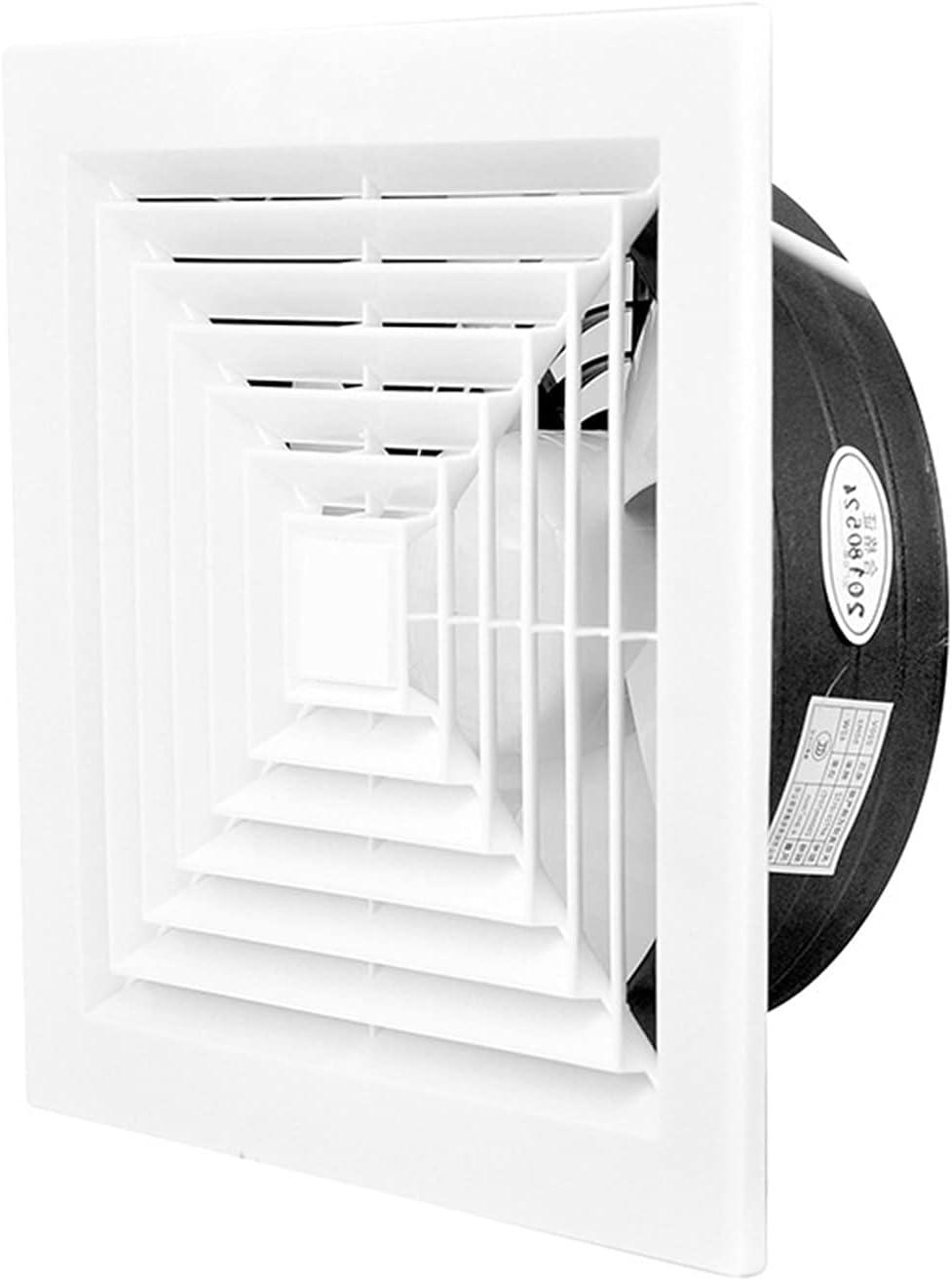 zlw-shop 8/10 / 12inch Celling Potente Baño Extractor Extractor Ventilador de Escape Ventilador de ventilación Cuadrada con Rejilla for la Cocina Aseo de la Ventana Ventilaciones de ventilación