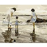 Foto de bricolaje por digital girl set dibujo en lienzo pintura por retrato digital pintado a mano foto arte regalo decoración del hogar 40 cm * 50 cm sin marco