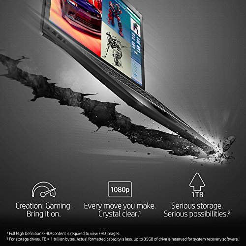 "HP Pavilion Power GTX 1050 Gaming Laptop - 15"" Full HD, Intel Core i7-7700HQ , 8GB RAM, 128GB SSD + 1TB HDD, Windows 10 Home, Black - 15-cb077nr"