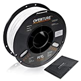 OVERTURE PETG Filament 1.75mm with 3D Build Surface 200 x 200 mm 3D Printer Consumables, 1kg Spool (2.2lbs), Dimensional Accuracy +/- 0.05 mm, Fit Most FDM Printer, White