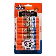 Elmer's 488126 School Permanent Glue Sticks 0.21 Oz. 8/Pack (E1591/E1560)