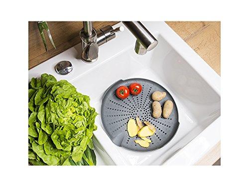 SHPdesign Spülbeckeneinlage, Küchenspülen Sieb grau