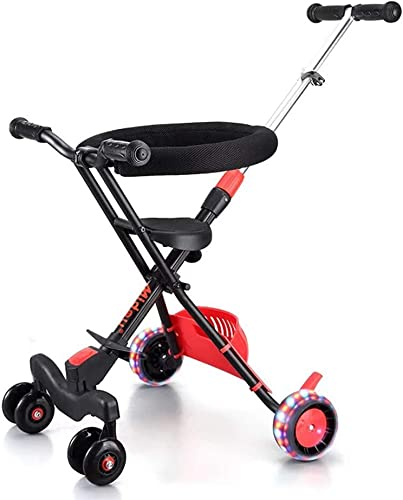 MINISU S ling Baby Kinder Dreirad Trolley Aluminiumlegierung Einfache Leichte Falten schwarz-766 (Farbe  C) Reise (Farbe   C)