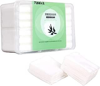 GothicBride Cotton Pads Makeup Remover Pads 128PCS Natural Premium Non-woven Square Cosmetic Cotton Pads Makeup Facial Soft Cut Cotton